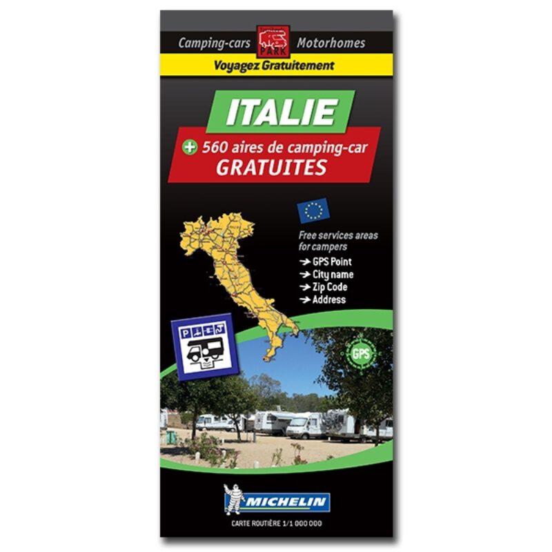 Carte Italie Des Aires De Camping Car Gratuites